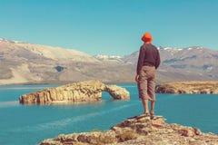 Hike in Patagonia Royalty Free Stock Photos