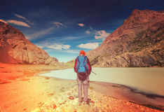 Hike in Patagonia Royalty Free Stock Photography