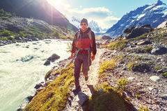 Hike in Patagonia Royalty Free Stock Image