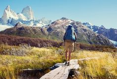 Hike in Patagonia royalty free stock images
