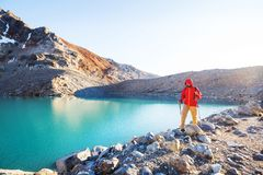 Hike in Patagonia stock photography