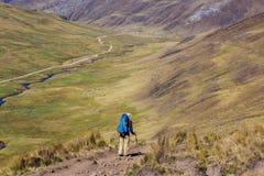 Hike in Peru Stock Image