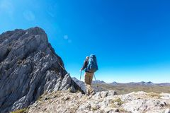 Hike in Peru Stock Photography