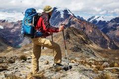 Hike in Peru Royalty Free Stock Photo