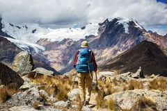 Hike in Peru Royalty Free Stock Image