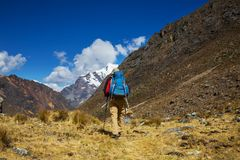 Hike in Peru Royalty Free Stock Photo