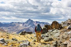 Hike in Peru Royalty Free Stock Image