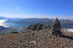 Hike the Romsdalseggen ridge Stock Image