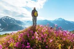 Hike in Salmon glacier Stock Photo