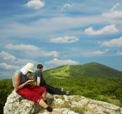 Hike scene Stock Image