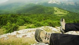 Hike scene Stock Photos