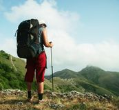 Hike scene Stock Photo