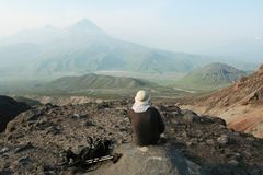 Hike scene royalty free stock image
