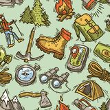 Hike seamless pattern Royalty Free Stock Photos