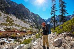 Hike in Sierra Nevada royalty free stock photos