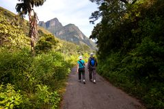 Hike on Sri Lanka Stock Photography