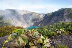 Hike to volcano Royalty Free Stock Images