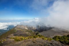 Hike to volcano Stock Photography