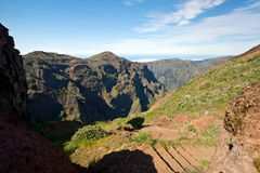 Hike to Pico do Arieiro, mountain in Madeira Stock Photos
