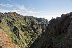 Hike to Pico do Arieiro, mountain in Madeira Royalty Free Stock Photos