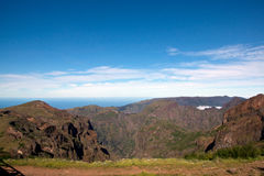 Hike to Pico do Arieiro, mountain in Madeira Royalty Free Stock Image