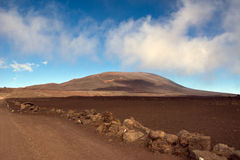 Hike to the Piton de la Fournaise Stock Photography