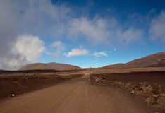 Hike to the Piton de la Fournaise Stock Image
