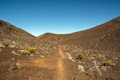 Hike to the Piton de la Fournaise Stock Photography
