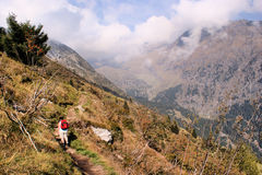 Hike to the Spronser Lakes in South Tyrol Stock Images