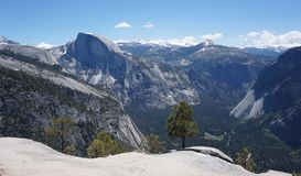 Half Dome viewpoint Yosemite royalty free stock image