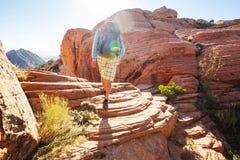 Hike in Utah stock photo