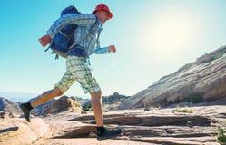 Hike in Utah royalty free stock image