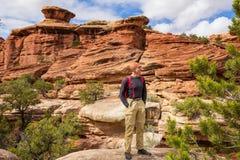 Hike in Utah royalty free stock photo