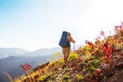 Hike in Uzbekistan. Hike in Chimgan mountains, Uzbekistan royalty free stock image