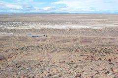 A hike in the vast Nevada desert Stock Photos