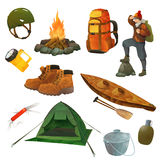 Hike vector icons Stock Image