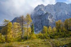 Hike from Vršič. To the beautiful Slemenova Špica in Juian Alps Royalty Free Stock Photo