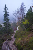 Hike from Vršič. To the beautiful Slemenova Špica in Juian Alps Stock Images