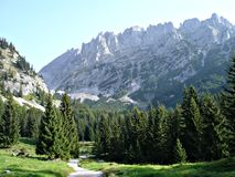 Hike in the \Wilder Kaiser\ Stock Photo