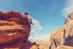 Hike in Zion Stock Photography