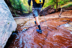 Hike in Zion Royalty Free Stock Photo