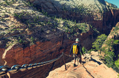 Hike in Zion. National park Stock Image