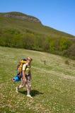 hiker девушки Стоковые Изображения