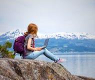 Hiker девушки Стоковое Изображение RF