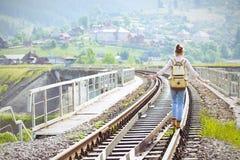 Hiker девушки Стоковая Фотография RF