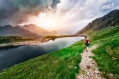Hiker женщины Стоковые Фотографии RF