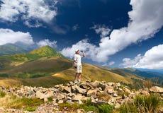 hiker испытывающий жажду Стоковые Изображения