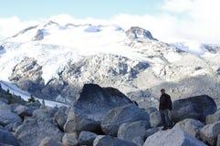 Hiker на большой возвышенности Стоковое Фото