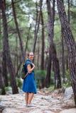 Hiker на красивом lycian пути Стоковое Фото