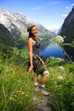 Hiker Норвегии стоковые фото